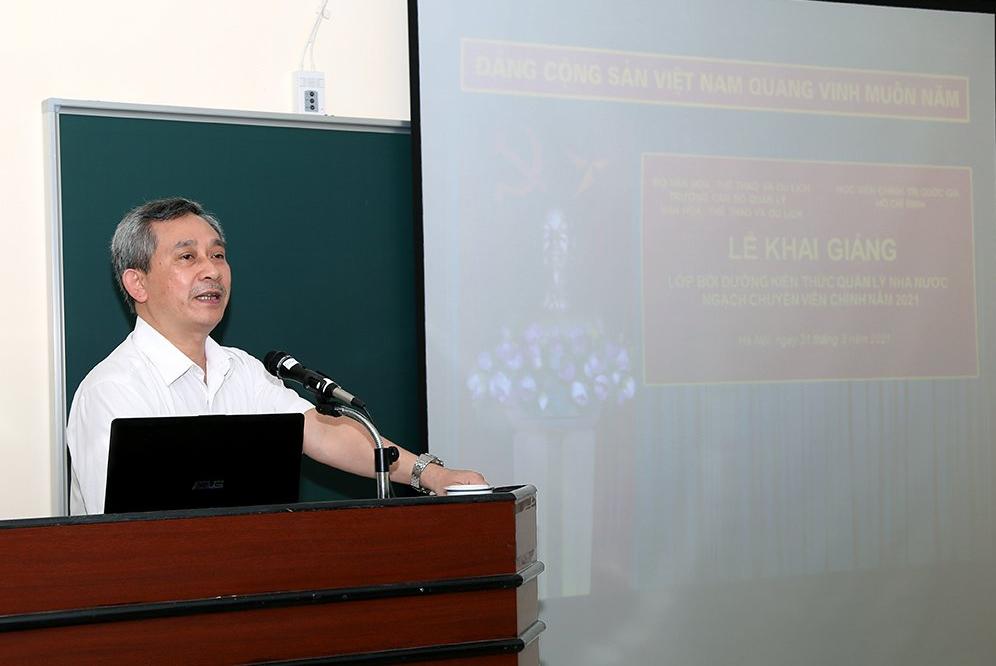 Khai giảng Lớp BDKT quản lý nhà nước ngạch chuyên viên chính tại Học viện Chính trị quốc gia Hồ Chí Minh