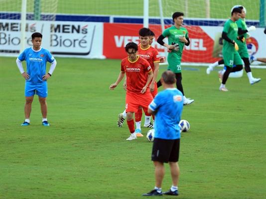 Tuyển Việt Nam tích cực chuẩn bị cho trận đấu gặp tuyển Trung Quốc