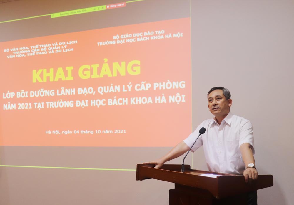 Khai giảng lớp Bồi dưỡng lãnh đạo, quản lý cấp phòng tại Đại học Bách khoa Hà Nội